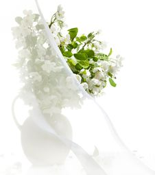 Free Blossoming Apple-tree Branches N Jug Stock Images - 9515924