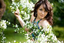 Free Tender Girl In The Garden Stock Image - 9515941