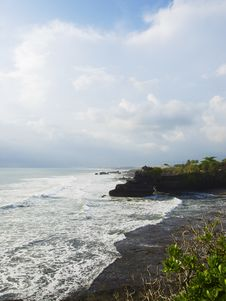 Free Tanah Lot Temple Territory Coastline Stock Photos - 9516543
