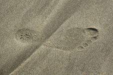 A Footstep Stock Image