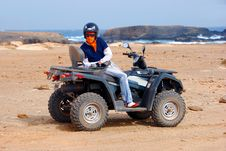 Free Quad Next To Santa Maria, Sal Island - Cape Verde Stock Images - 9517394