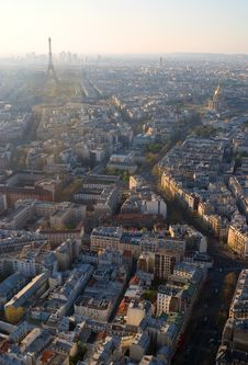 Free Paris From Above Royalty Free Stock Image - 9517426