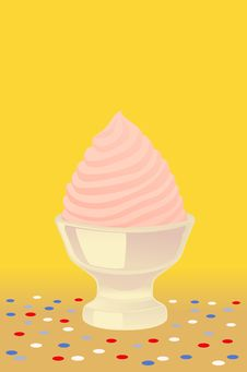 Pink Ice Cream Royalty Free Stock Image