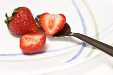 Free Spoonful Of Strawberry Stock Photos - 9517873