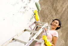 Free Happy Home Painting Stock Photos - 9519843
