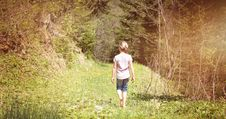 Free Young Girl Out Walking In The Countryside Royalty Free Stock Image - 95108616