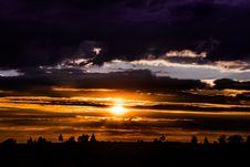 Free Sunset On Dark Sky Stock Photos - 95108703