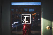 Free Person Taking Selfie Through Glass Royalty Free Stock Image - 95108746
