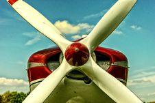 Free Retro Monoplane Propeller Royalty Free Stock Photo - 95108895