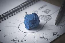 Free Scribbles Ideas Paper Royalty Free Stock Photography - 95108977