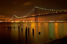 Free 25 De Abril Bridge Royalty Free Stock Images - 95109079