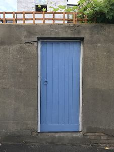 Free Blue, Wall, Garage, Garage Door Stock Images - 95164804