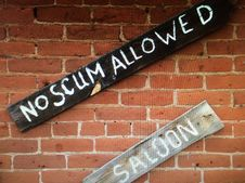 Free No Scum Allowed Stock Image - 95165071