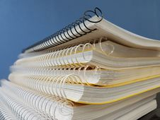 Free Yellow Spiral Notebooks Stock Photography - 95165132