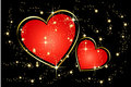 Free Shining Hearts And Stars Background Stock Images - 9528954