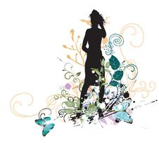 Free Female Silhouette Stock Photography - 9520582