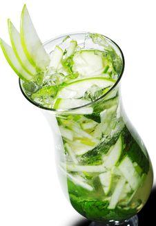 Free Cocktail - Apple Mojito Stock Photo - 9520750