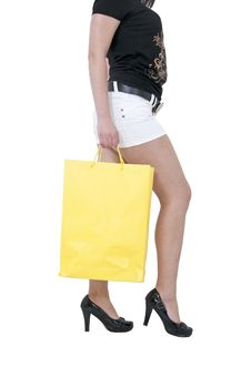 Yellow Bag Royalty Free Stock Photos