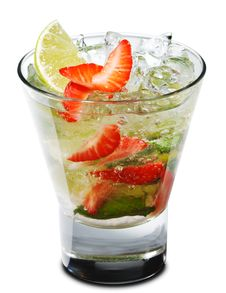 Free Cocktail - Berry Mojito Royalty Free Stock Photography - 9520787
