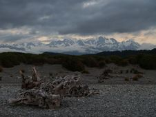 Free View To Southern Alps At Gillespies Beach Royalty Free Stock Images - 9520849