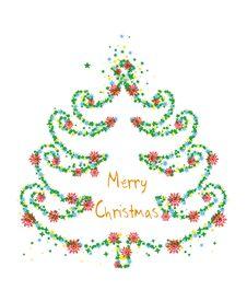 Free Christmas Tree Fractal Stock Image - 9521921