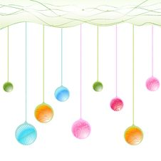 Free Hanging Balls Royalty Free Stock Images - 9522659