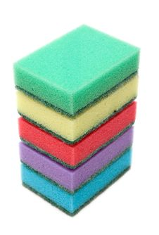 Free Colour Sponges, Tower Royalty Free Stock Photo - 9523955