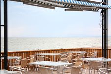 Cafe On The Beach Royalty Free Stock Images