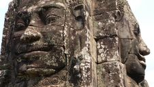 Free Bayon Temple, Angkor, Cambodia, Face Of King Jayavarman VII Royalty Free Stock Images - 9526379