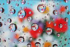 Free Dripped On Glass. Royalty Free Stock Photography - 9526437