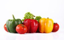 Free Tomato And Pepper Royalty Free Stock Photos - 9527488