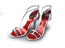 Free Silver Sandal Royalty Free Stock Image - 9527546