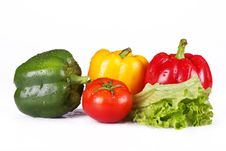 Free Tomato And Pepper Royalty Free Stock Image - 9527706