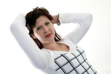 Free Woman In The Checkered Royalty Free Stock Photos - 9527888