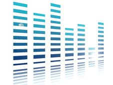 Free Blue Bars Stock Image - 9528011