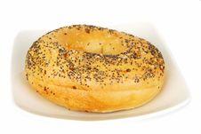 Bagel With Sesame Seeds Stock Photos