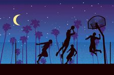 Free The Night Of Streetball Stock Images - 9529184
