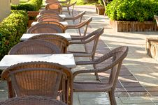 Free Table And Four Chairs On Patio Royalty Free Stock Images - 9529369