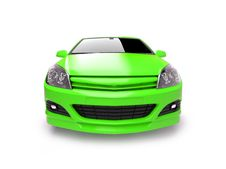Free Agressive Bright Green Sportscar Royalty Free Stock Images - 9529619