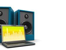Free Laptop Music Background Stock Images - 9529654