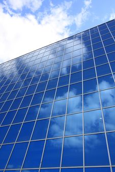 Facade Of A Modern Building Royalty Free Stock Image