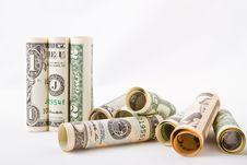 Free Rolled Dollar Bills Royalty Free Stock Photo - 95271695