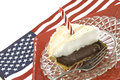 Free Chocolate Meringue Pie With Flag Stock Photos - 9533223