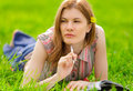Free Pretty Girl Studying Outdoors Royalty Free Stock Image - 9536766
