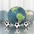 Free Soccer Ball With Earth Royalty Free Stock Images - 9538299