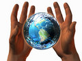 Free 3D Earth On 3D Hands Stock Photo - 9538430