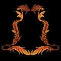 Free Orange Floral Frame Royalty Free Stock Image - 9539916