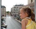 Free Little Girl At Open Window Stock Photos - 9539923