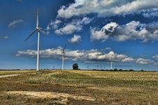 Free Wind Turbines Royalty Free Stock Images - 9530029