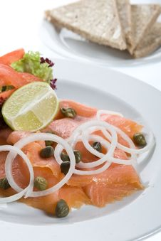 Free Smoked Salmon Royalty Free Stock Photography - 9531337